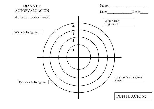 Diana de evaluación acrosport