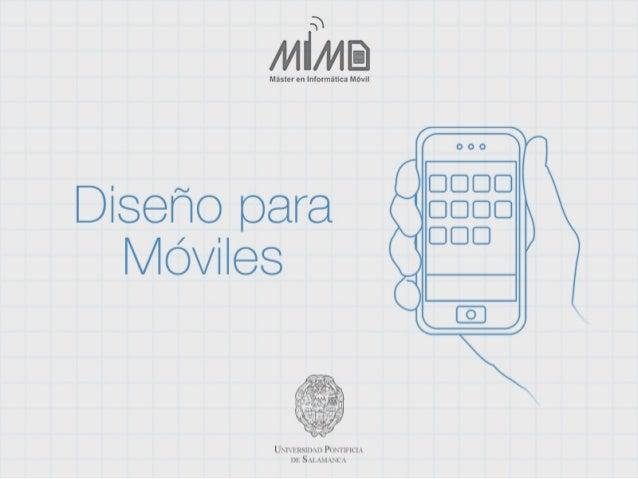 Iniciación al Diseño para Dispositivos Móviles 2012