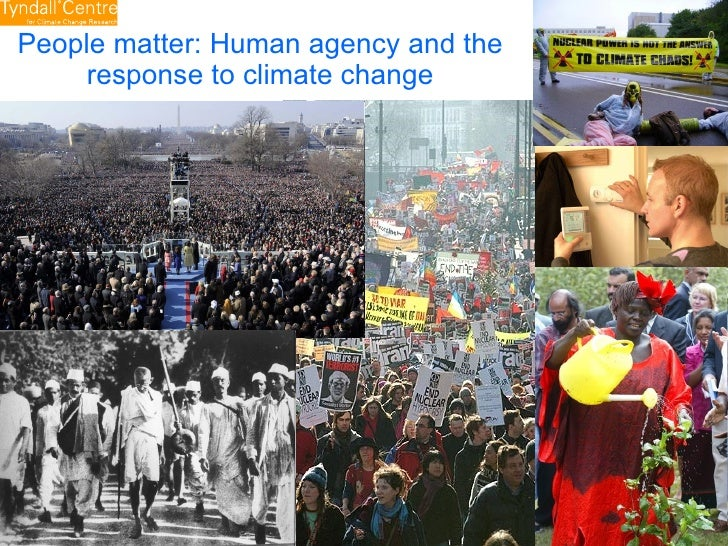 People matter: Human agency and the response to climate change