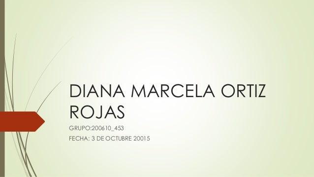 DIANA MARCELA ORTIZ ROJAS GRUPO:200610_453 FECHA: 3 DE OCTUBRE 20015