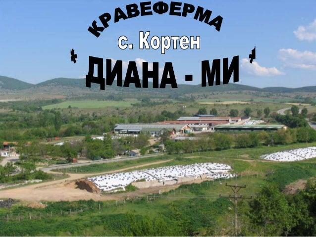 """ЕТ """" ДИАНА- МИ- МИНЧО ИВАНОВ"""" е създадена през 1992 г."""