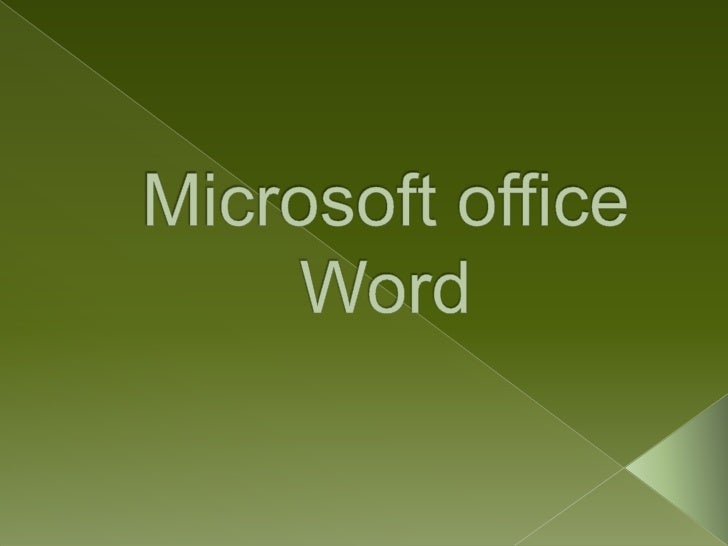 Microsoft office Word<br />