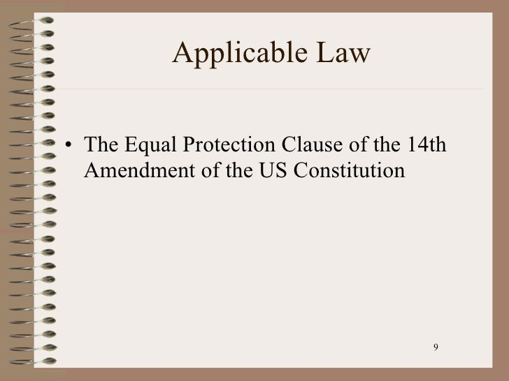 felons democracy and equal protection clause Some people have asked whether court decisions recognizing that some felons have a of the equal protection clause require the volokh conspiracy.