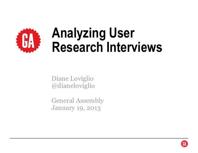 Analyzing User Research Interview Workshop