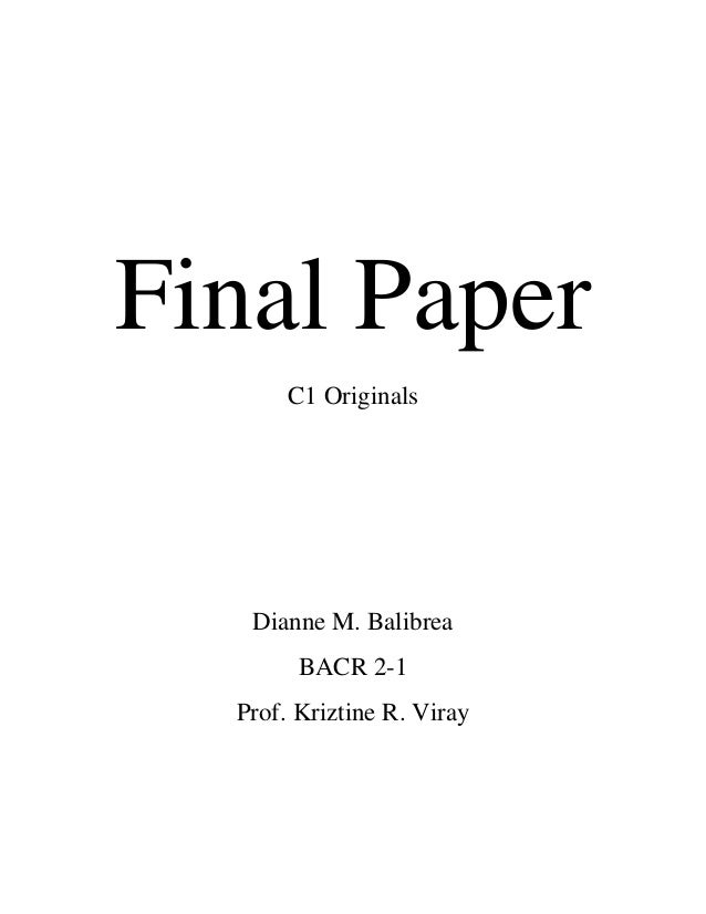 Final thesis paper