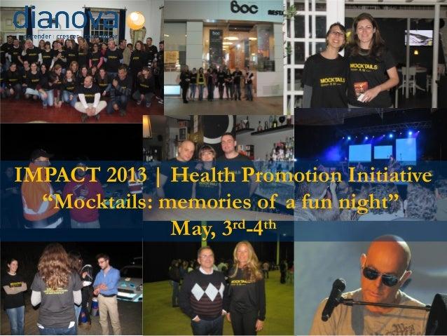 Dianova Mocktails Evaluation Impact 2009 2013