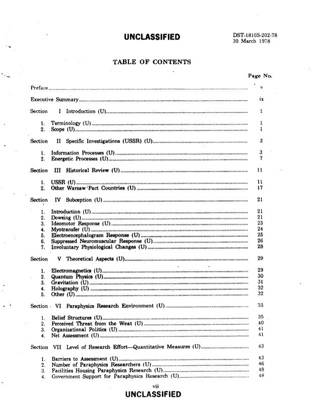 Table Of Contents Dissertation