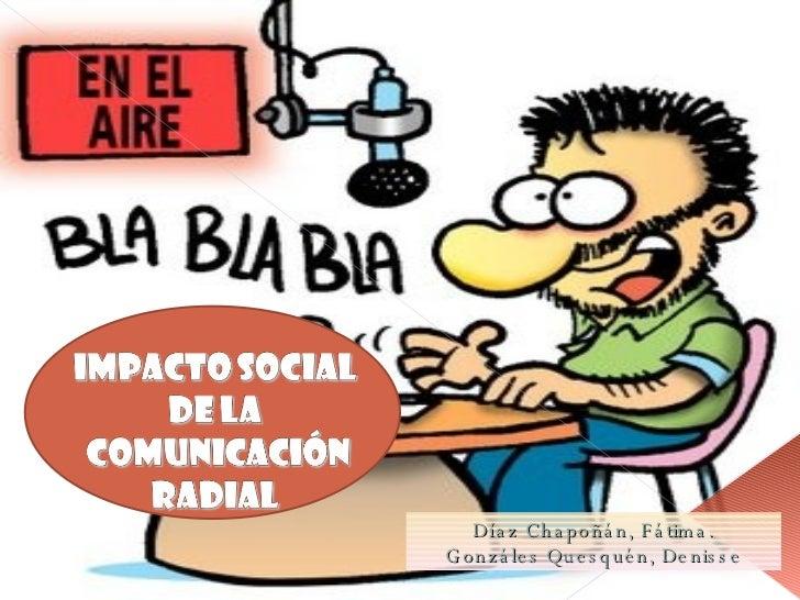 IMPACTO SOCIAL DE LA RADIO