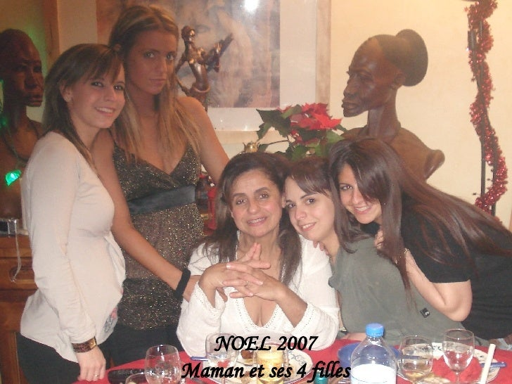 NOEL 2007 Maman et ses 4 filles