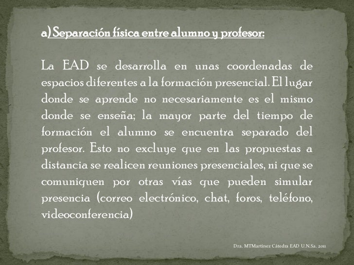 Características EAD