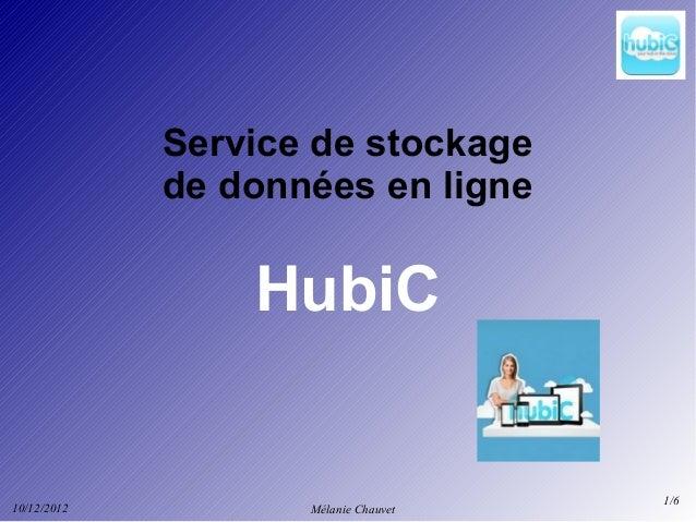 Service de stockage             de données en ligne                 HubiC                                      1/610/12/20...