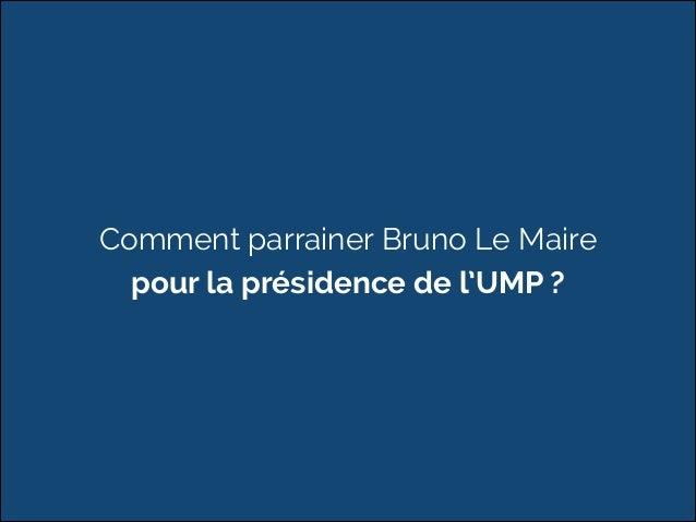 Comment parrainer Bruno Le Maire  pour la présidence de l'UMP ?