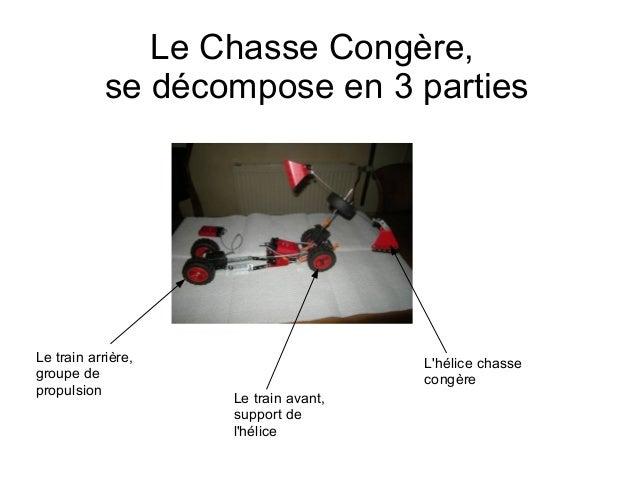 Le Chasse Congère,            se décompose en 3 partiesLe train arrière,                     Lhélice chassegroupe de      ...