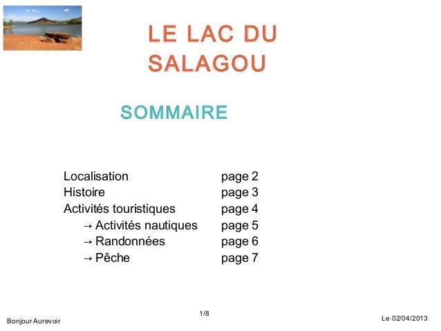 LE LAC DU                                  SALAGOU                             SOMMAIRE                   Localisation    ...