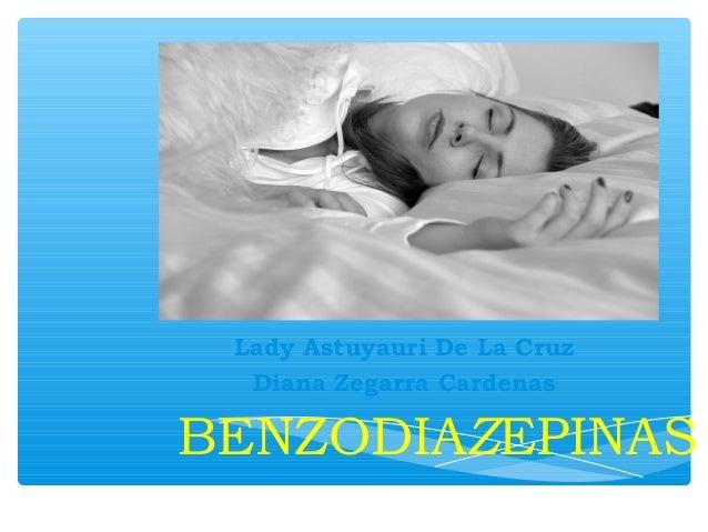 Diapo de benzodiazepinas