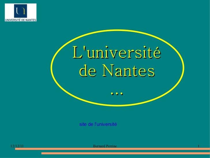 L'université de Nantes ... site de l'université