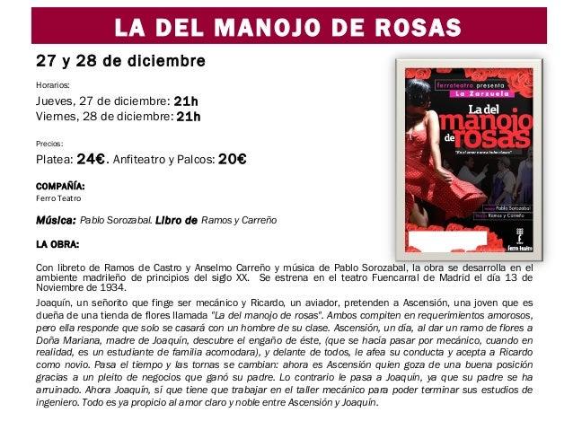 Teatro Zorrilla zarzuela la del manojo de rosas Ocio y Rutas Valladolid