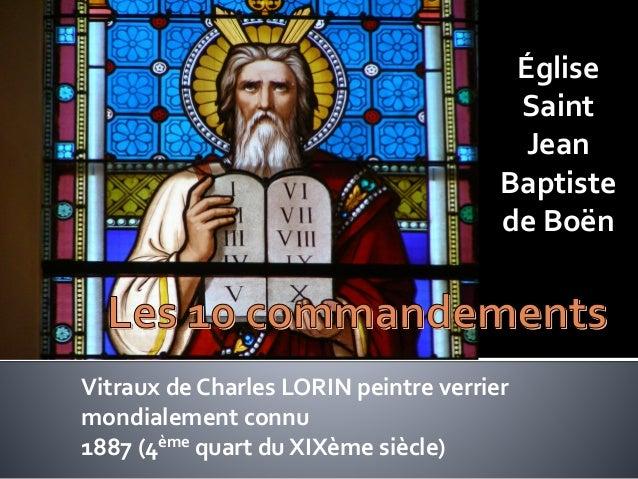Église Saint Jean Baptiste de Boën Vitraux de Charles LORIN peintre verrier mondialement connu 1887 (4ème quart du XIXème ...