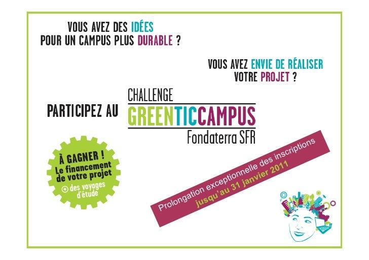 Diaporama green tic campus