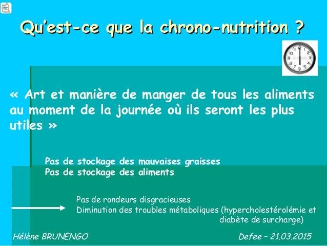 Qu'est-ce que la chrono-nutrition ?Qu'est-ce que la chrono-nutrition ? «Art et manière de manger de tous les aliments au ...