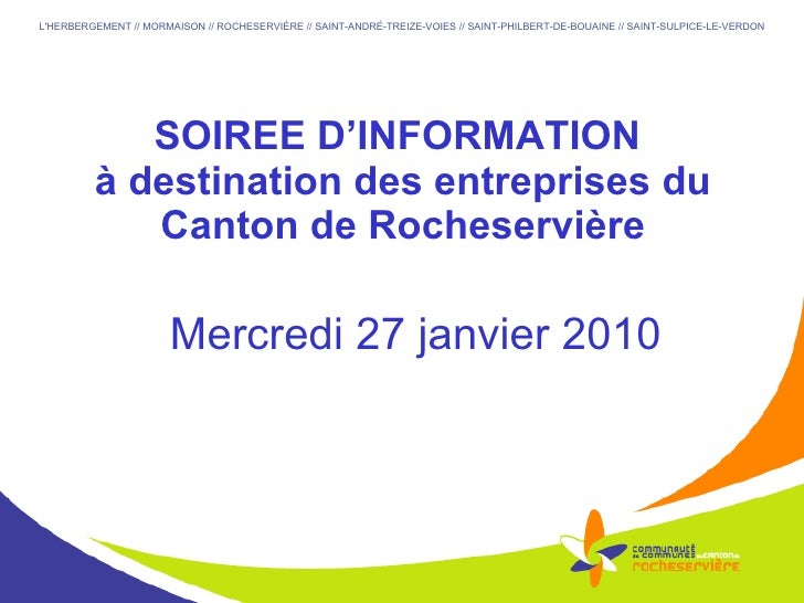 Soirée débat du 27/01/2010