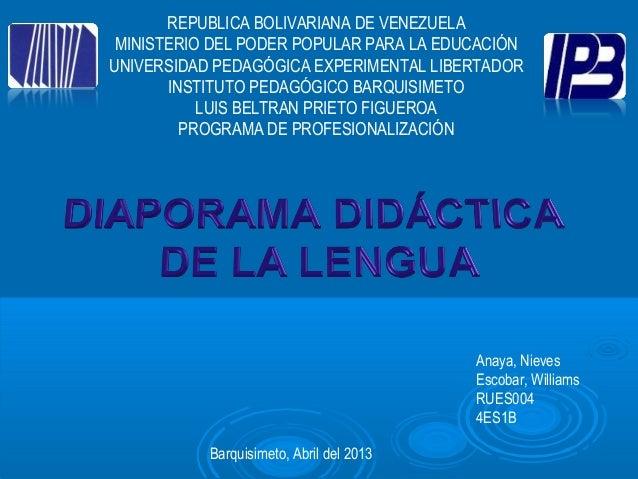 REPUBLICA BOLIVARIANA DE VENEZUELAMINISTERIO DEL PODER POPULAR PARA LA EDUCACIÓNUNIVERSIDAD PEDAGÓGICA EXPERIMENTAL LIBERT...