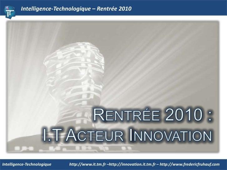 IT - Rentrée 2010