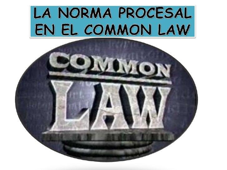 LA NORMA PROCESAL EN   EL COMMON LAW                                                                         Normas       ...
