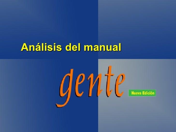 Análisis del manual