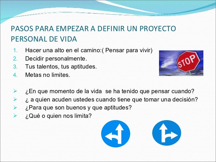 diapositivas de proyecto de vida