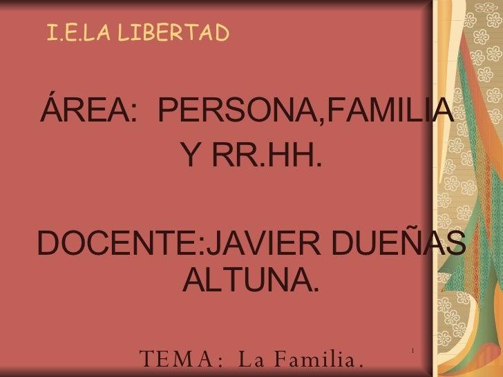 Diapositiva  Familia
