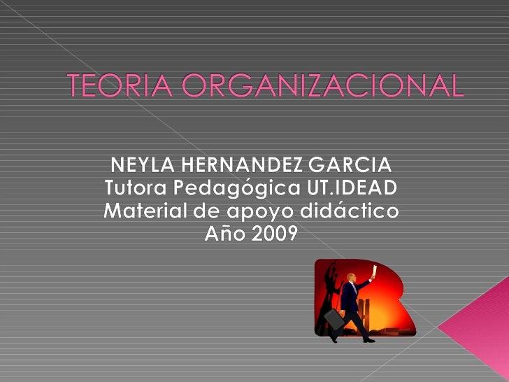 Diapositiva Ii Teoria Organizacional