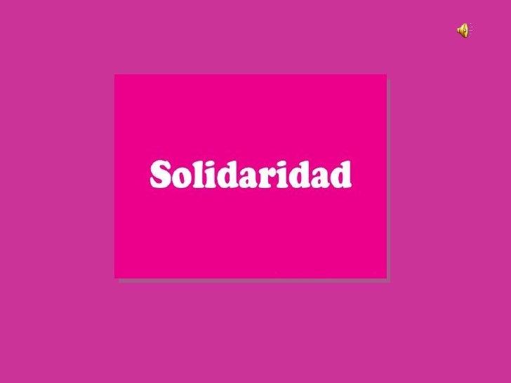 Diapositiva Solidaridad
