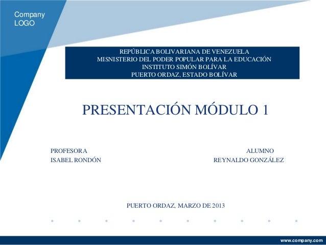 CompanyLOGO                           REPÚBLICA BOLIVARIANA DE VENEZUELA                     MISNISTERIO DEL PODER POPULAR...