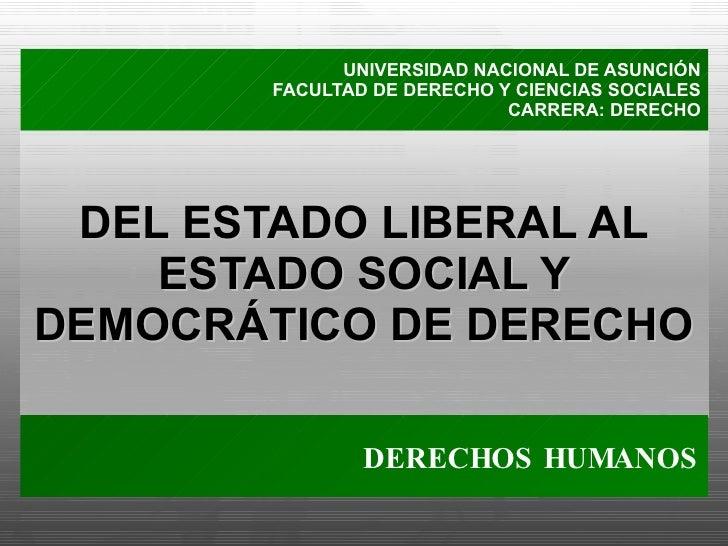 Derechos Humanos: Del Estado Liberal al Social y Democrático de Derecho