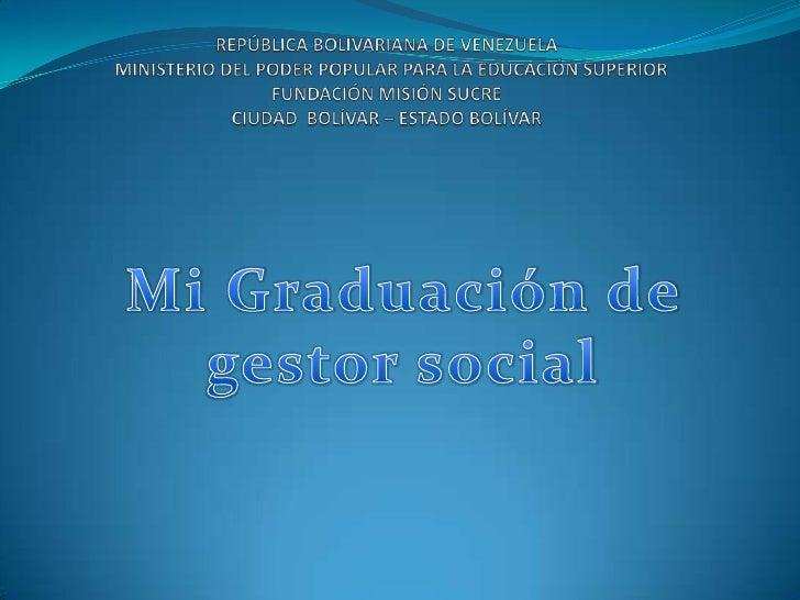 REPÚBLICA BOLIVARIANA DE VENEZUELA                    MINISTERIO DEL PODER POPULAR PARA LA EDUCACIÓN SUPERIORFUNDACIÓN MIS...