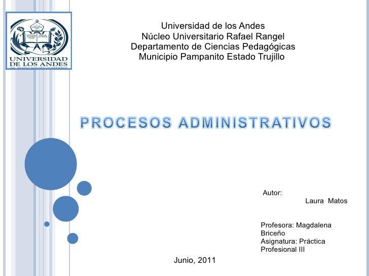 Universidad de los Andes Núcleo Universitario Rafael Rangel Departamento de Ciencias Pedagógicas Municipio Pampanito Estad...
