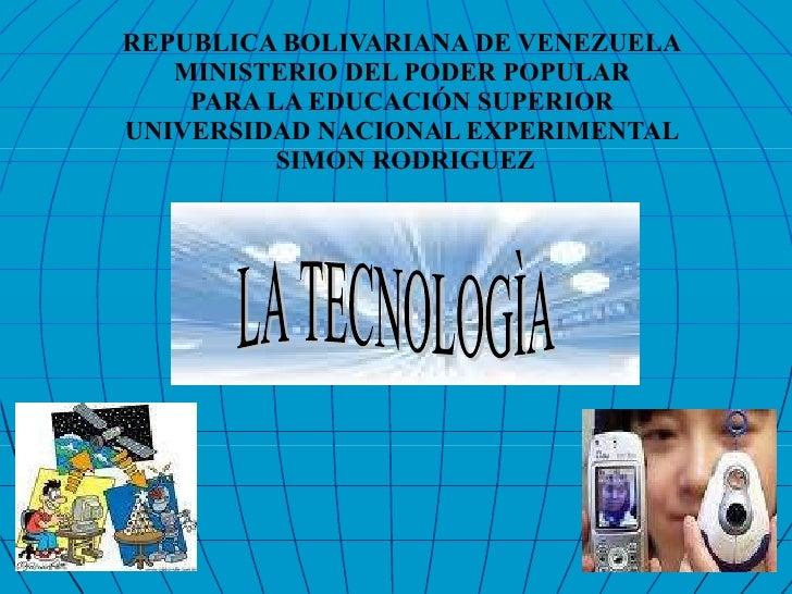 Diapositiva de la Tecnologìa