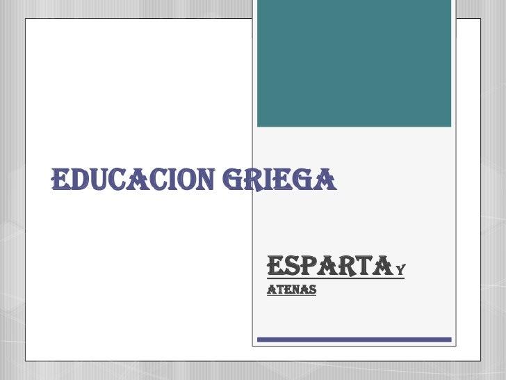 Diapositiva esparta y atenas
