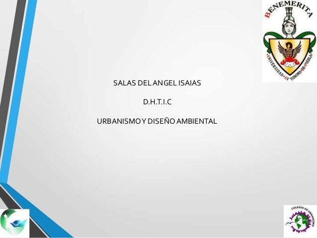 SALAS DEL ANGEL ISAIASD.H.T.I.CURBANISMOY DISEÑOAMBIENTAL