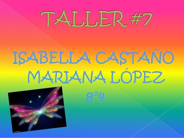 ISABELLA CASTAÑO MARIANA LÓPEZ 8°4