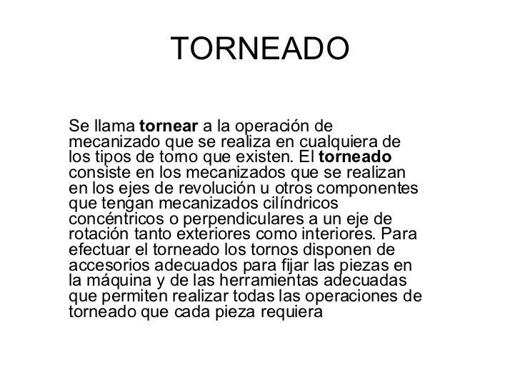 Diapositivas De Tornos