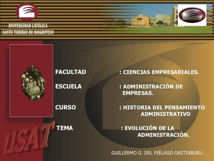 Diapositivas Evolucion De La AdministracióN.