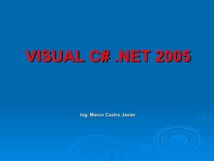 visual csharp: