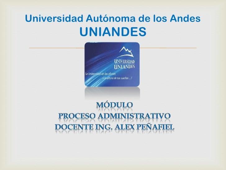 Universidad Autónoma de los Andes          UNIANDES              