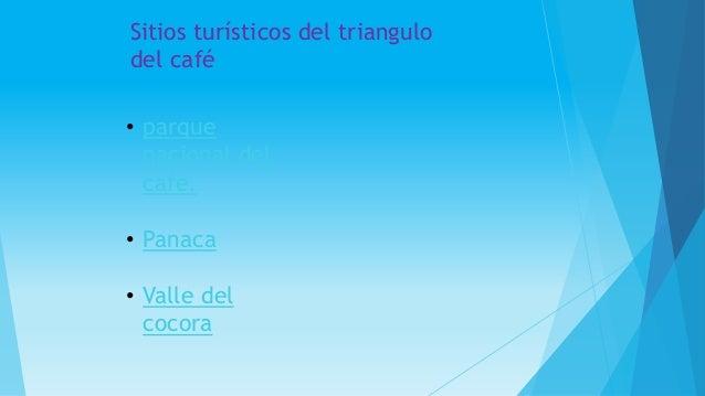 • parque nacional del café. • Panaca • Valle del cocora Sitios turísticos del triangulo del café