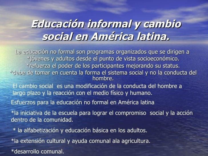 EDUCACION INFORMAL