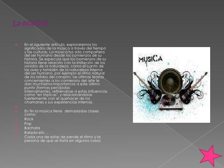 La música!!<br />En el siguiente artículo, exploraremos los significados de la música a través del tiempo y las culturas. ...