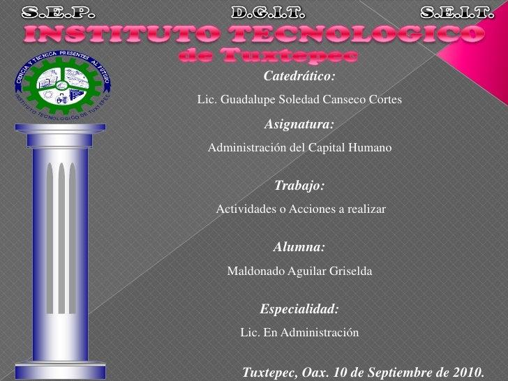 S.E.P.<br />D.G.I.T.<br />S.E.I.T.<br />INSTITUTO TECNOLOGICO <br />de Tuxtepec<br />Catedrático:<br />Lic. Guadalupe Sole...