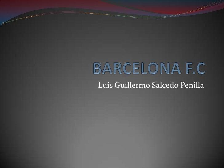 Diapositivas BarçA